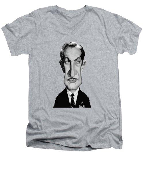 Celebrity Sunday - Vincent Price Men's V-Neck T-Shirt