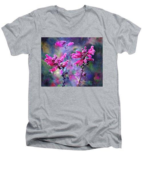 Celestial Blooms-2 Men's V-Neck T-Shirt by Kathy M Krause