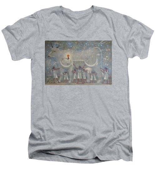 Celestial Cow Men's V-Neck T-Shirt