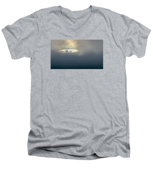 Men's V-Neck T-Shirt featuring the photograph Celestial Eye by Carlee Ojeda