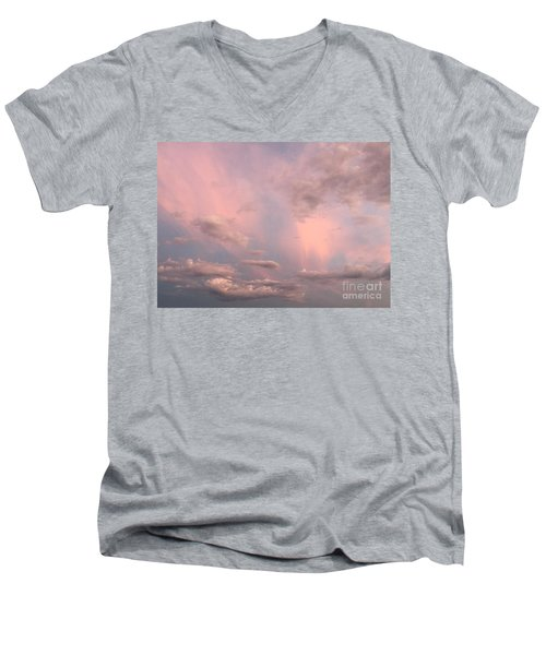 Men's V-Neck T-Shirt featuring the photograph Celestial Sky by Paula Guttilla