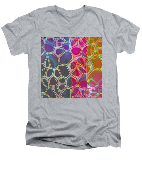Cell Abstract 11 Men's V-Neck T-Shirt by Edward Fielding