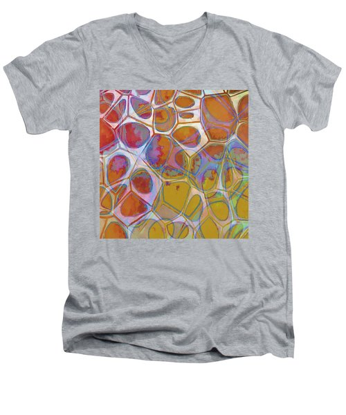 Cell Abstract 14 Men's V-Neck T-Shirt by Edward Fielding