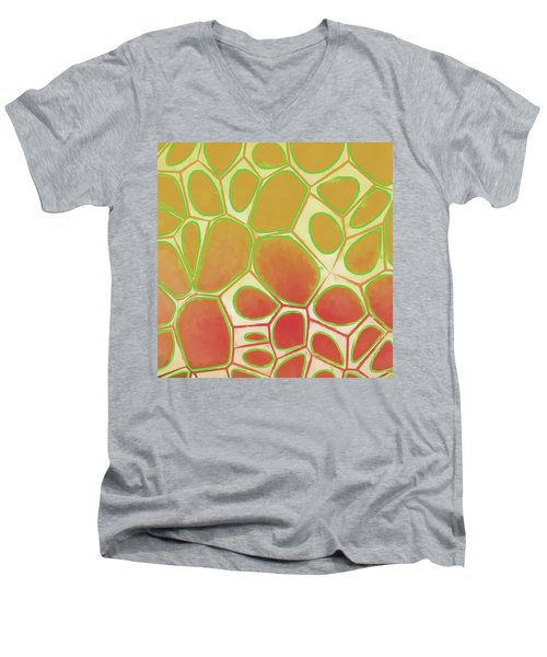 Cells Abstract Five Men's V-Neck T-Shirt by Edward Fielding