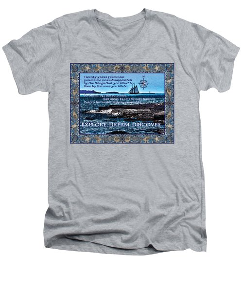 Celtic Explorer - Bluenose II In Halifax Harbour Men's V-Neck T-Shirt