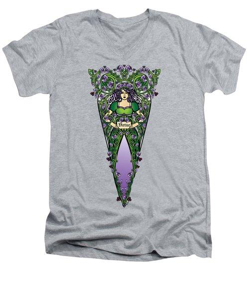 Celtic Forest Fairy - Virtue Men's V-Neck T-Shirt