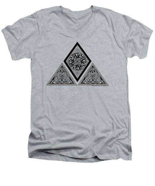 Celtic Pyramid Men's V-Neck T-Shirt by Kristen Fox