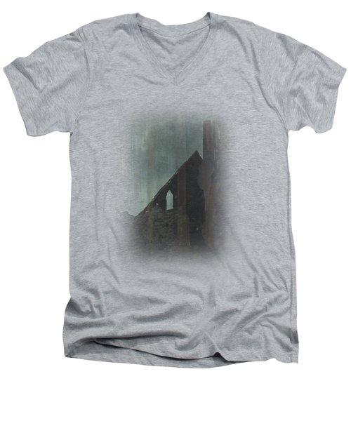Men's V-Neck T-Shirt featuring the painting Celtic Ruins by Ivana Westin