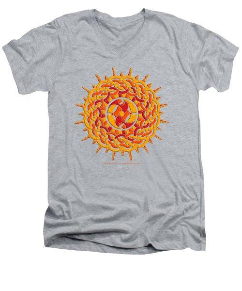 Celtic Sun Men's V-Neck T-Shirt by Kristen Fox