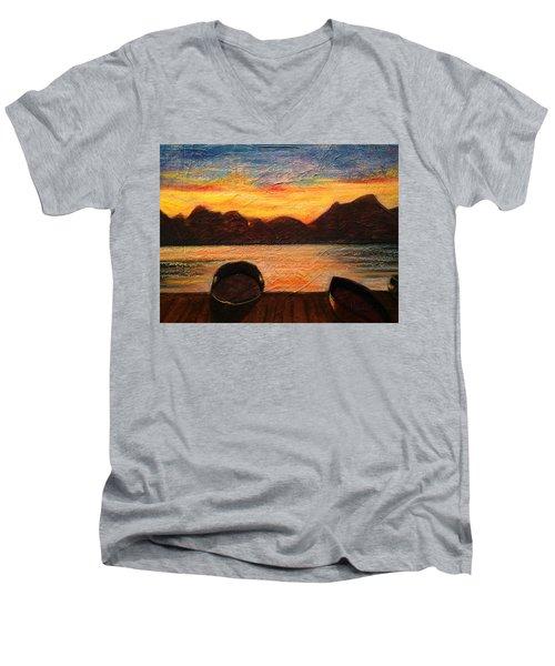 Celtic Sunset Men's V-Neck T-Shirt