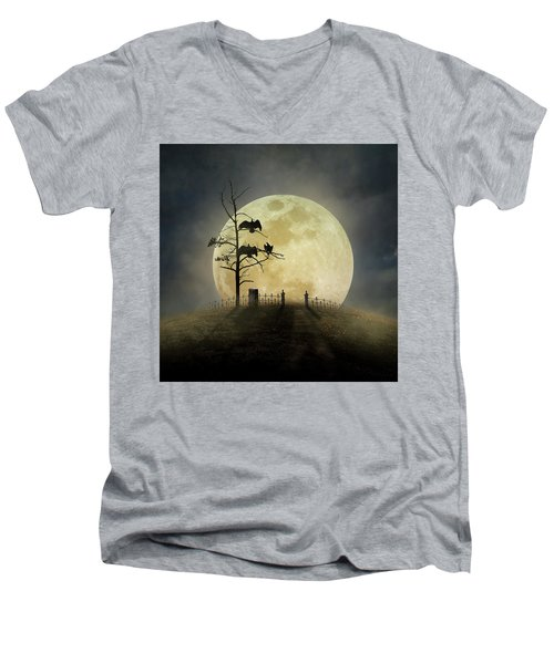 Cemetery Hill Men's V-Neck T-Shirt