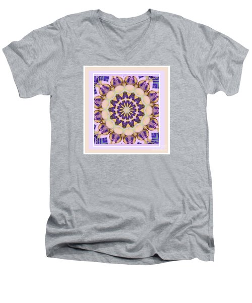 Center Of Passion Flower Men's V-Neck T-Shirt