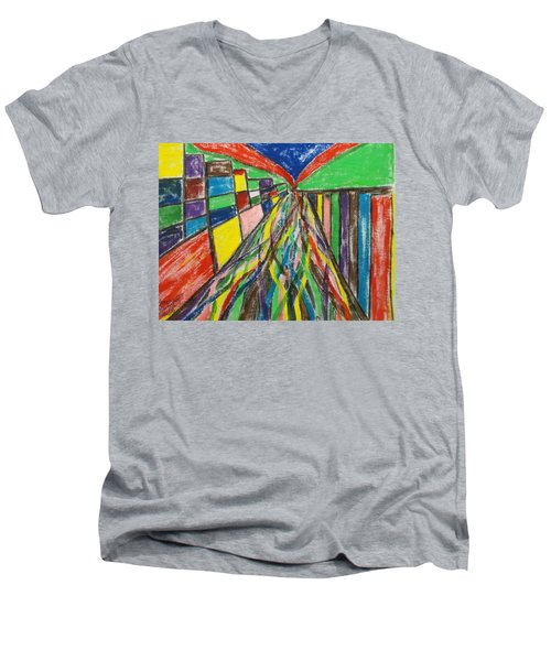 Central Hill - London Sw19 Men's V-Neck T-Shirt by Mudiama Kammoh