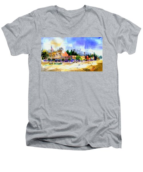 Central Square Auburn Men's V-Neck T-Shirt