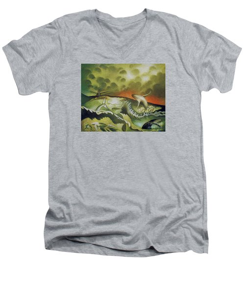 Cetacean Sunset Men's V-Neck T-Shirt