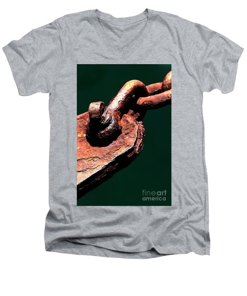Men's V-Neck T-Shirt featuring the photograph Chain Age II by Stephen Mitchell