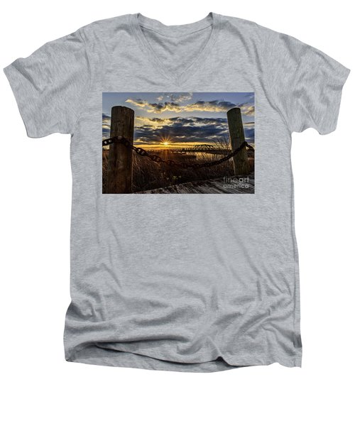Chained View Men's V-Neck T-Shirt