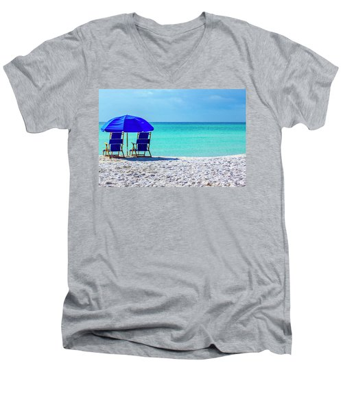 Beach Chair Pair Men's V-Neck T-Shirt