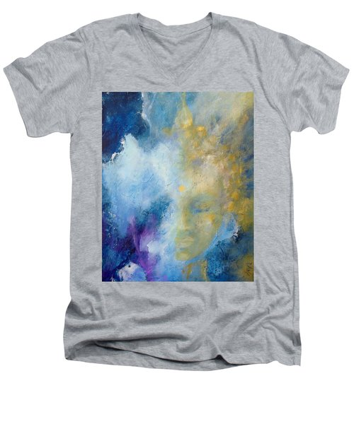 Chakra Men's V-Neck T-Shirt by Dina Dargo