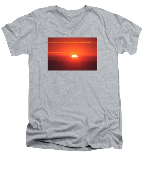 Challenging The Sun Men's V-Neck T-Shirt
