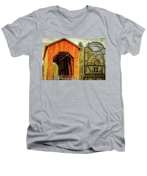 Chambers Railroad Bridge Men's V-Neck T-Shirt
