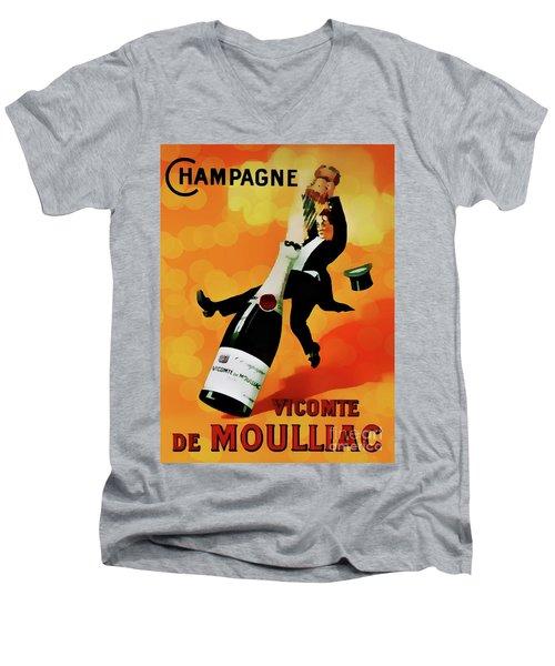 Champagne Celebration Men's V-Neck T-Shirt by Ian Gledhill