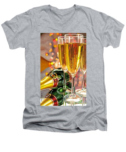 Champagne Wishes Men's V-Neck T-Shirt