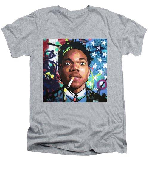 Chance The Rapper Men's V-Neck T-Shirt