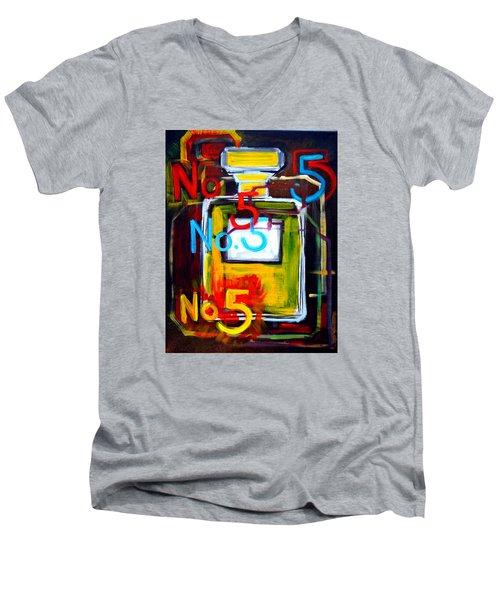 Chanel No. 5 Men's V-Neck T-Shirt
