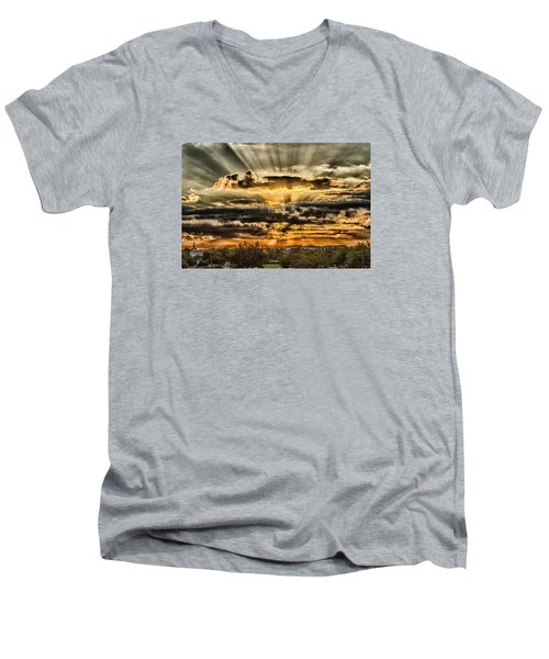Men's V-Neck T-Shirt featuring the photograph Changes by Michael Rogers