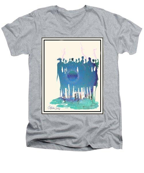 Women Chanting - Recharging The Earth Men's V-Neck T-Shirt