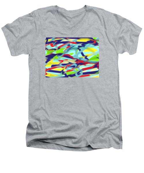 Chaos Into Form Blue Men's V-Neck T-Shirt