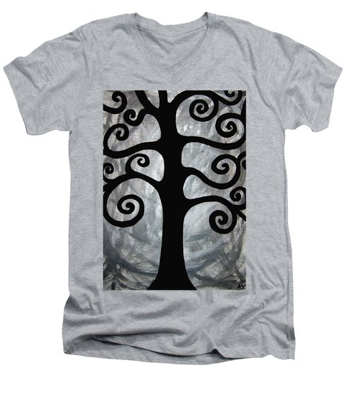 Chaos Tree Men's V-Neck T-Shirt