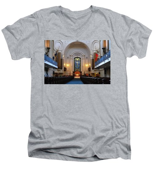 Chapel Interior - Us Naval Academy Men's V-Neck T-Shirt