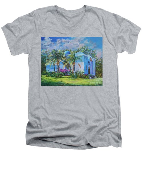 Chapel Of St. Panteleimon Men's V-Neck T-Shirt