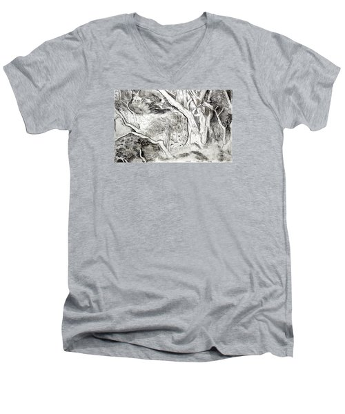 Charcoal Copse Men's V-Neck T-Shirt