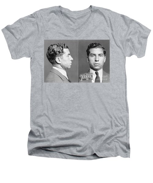 Charles Lucky Luciano Men's V-Neck T-Shirt