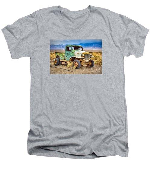 The Charles Manson Forgotten Getaway Truck Men's V-Neck T-Shirt