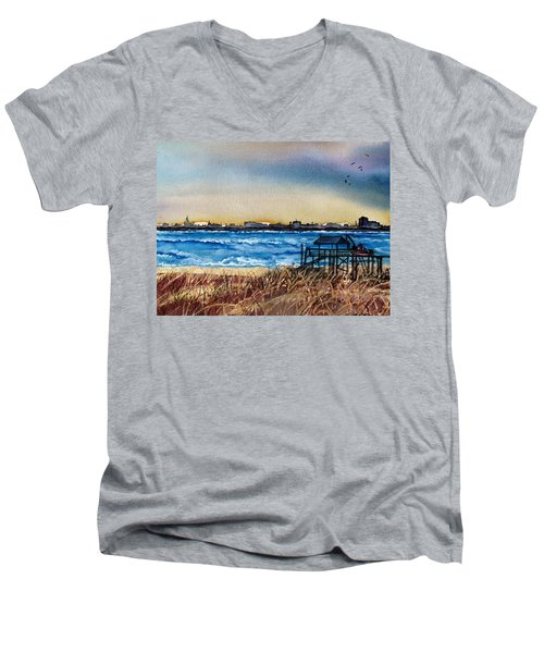 Charleston At Sunset Men's V-Neck T-Shirt by Lil Taylor