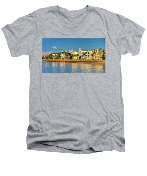 Charleston Battery Row Of Homes  Men's V-Neck T-Shirt