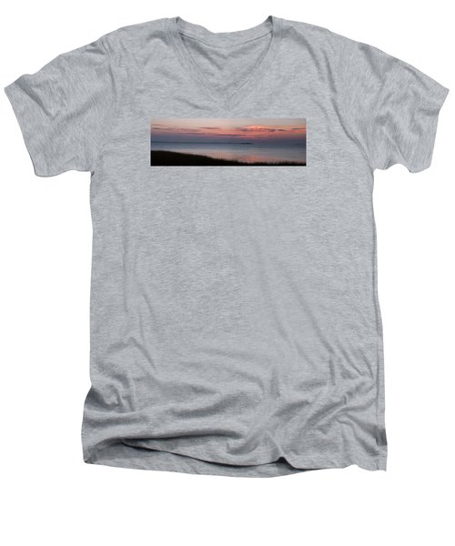 Men's V-Neck T-Shirt featuring the photograph Charleston Bay by Allen Carroll