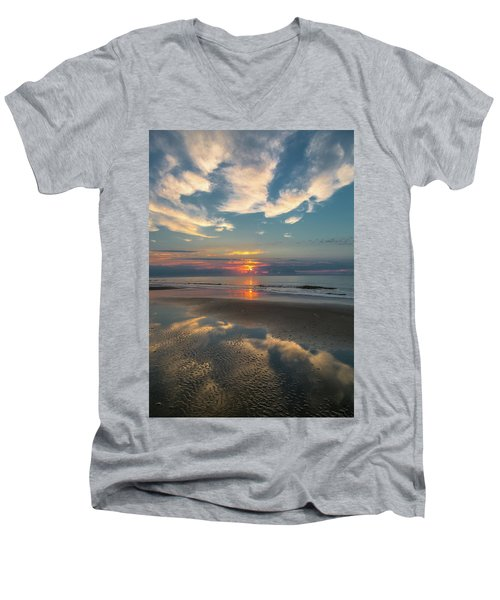 Charleston Coast Sunrise Men's V-Neck T-Shirt