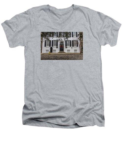 Charleston Doorway 3 Men's V-Neck T-Shirt
