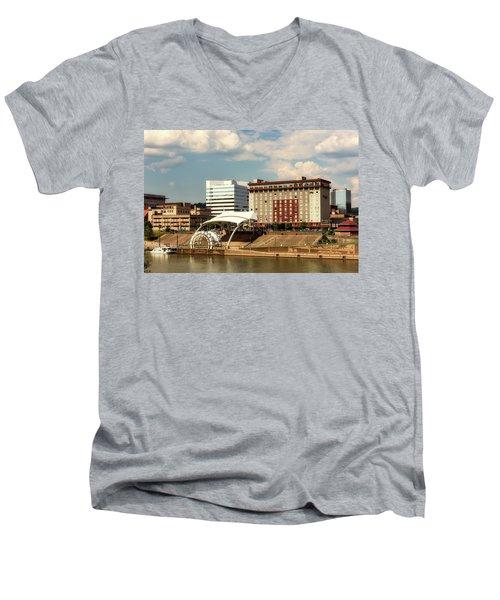 Charleston West Virginia Men's V-Neck T-Shirt by L O C
