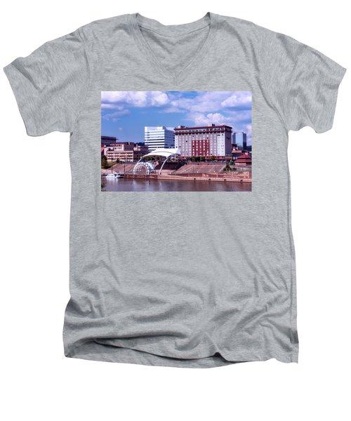 Charleston West Virginina Men's V-Neck T-Shirt by L O C