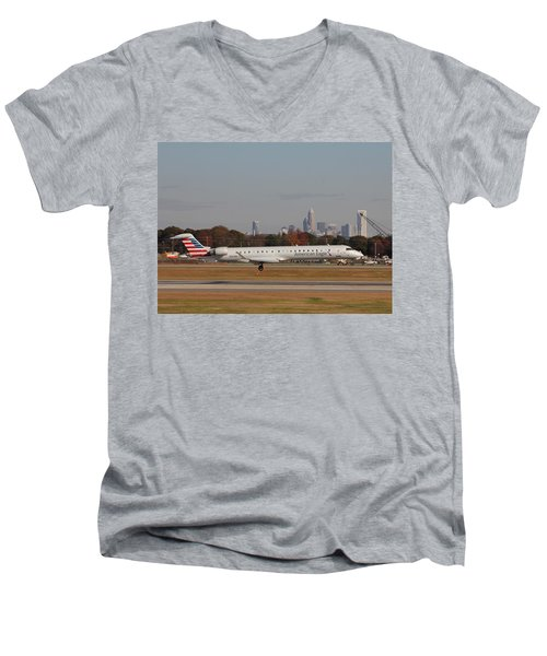 Charlotte Douglas International Airport 17 Men's V-Neck T-Shirt