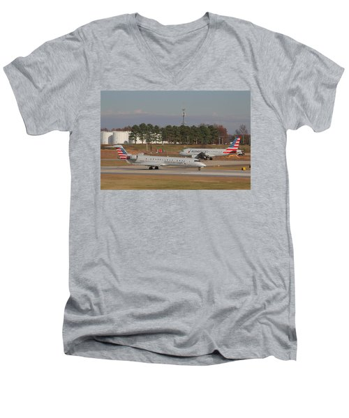 Charlotte Douglas International Airport 21 Men's V-Neck T-Shirt