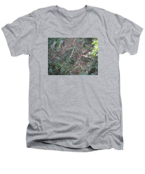 Charlotte's Web Men's V-Neck T-Shirt by Charlotte Gray