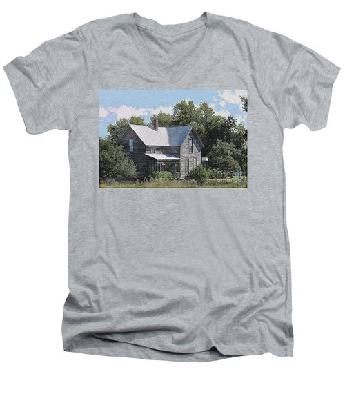 Charming Country Home Men's V-Neck T-Shirt by Liane Wright