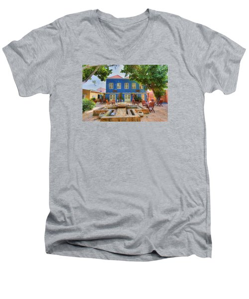 Charming Courtyard Men's V-Neck T-Shirt